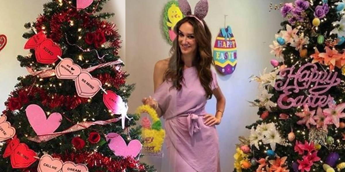 Mujer decora su árbol de Navidad según cada día festivo del año para no quitarlo