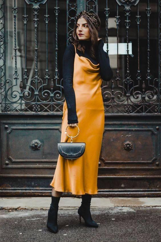 vestidos y botines