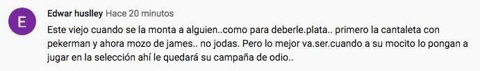 Supuestas indirectas de Carlos Antonio Vélez a James Rodríguez