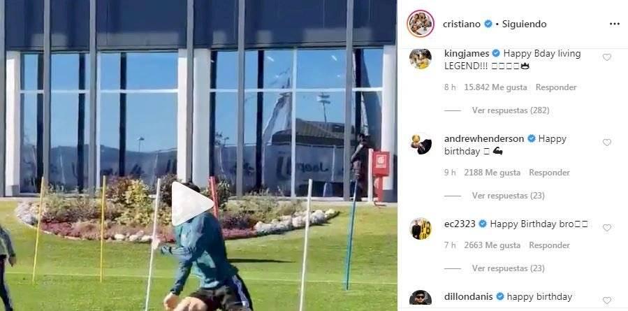 Cristiano Ronaldo y la felicitación de LeBron James