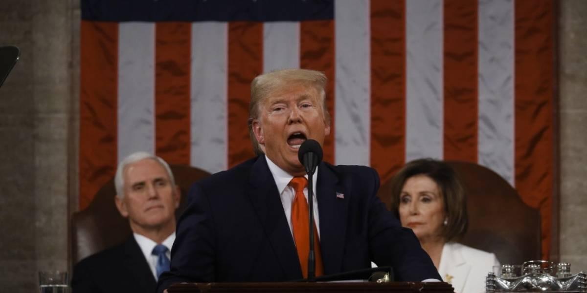 Desaire a Pelosi, saludo a Guaidó y el muro fronterizo: Trump pronunció su discurso sobre el Estado de la Unión