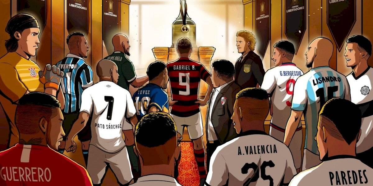 Paredes entre los grandes: El póster de la Conmebol con los campeones de la Copa Libertadores que van por la gloria
