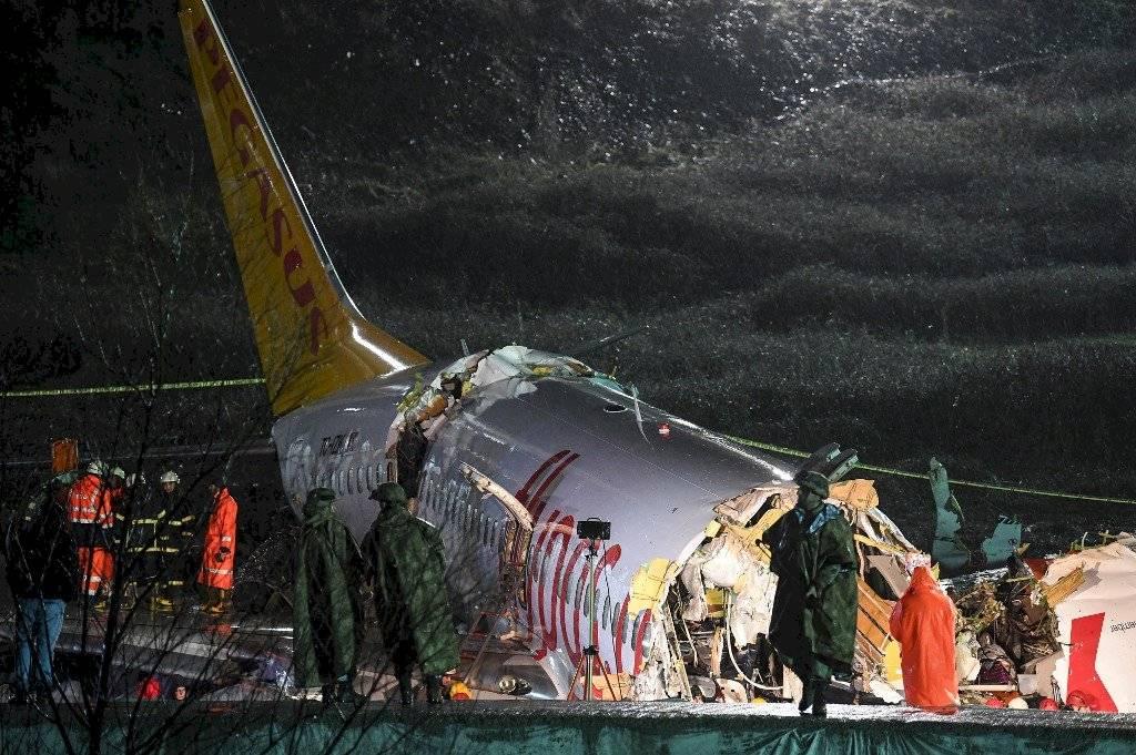 Avión accidentado en Turquía