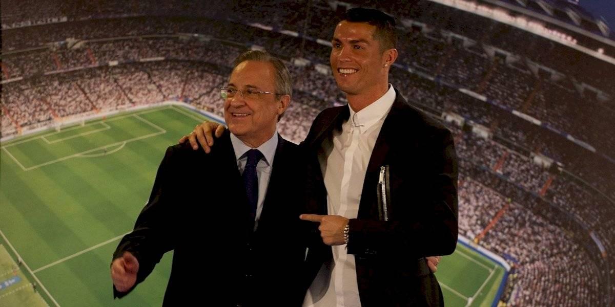 """Felicidades al mejor jugador del mundo"": Florentino Pérez a Cristiano"