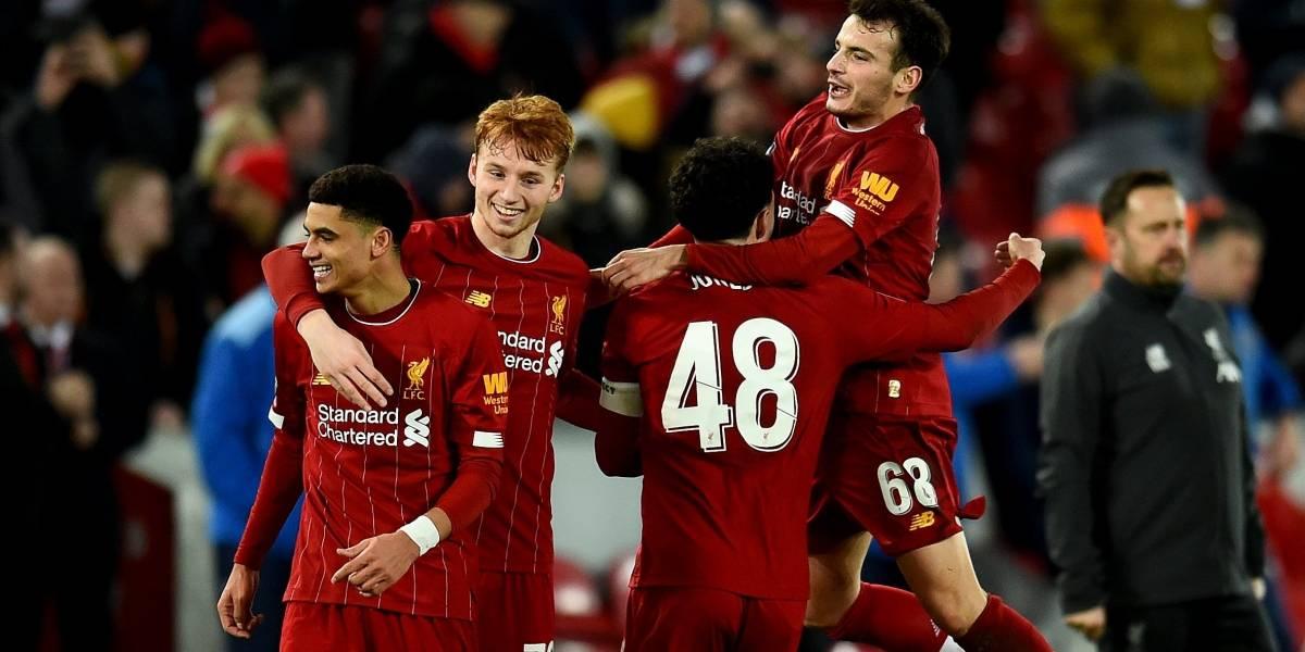 Liverpool vs Shrewsbury Town: El promedio de edad de los Reds fue de 19 años y 102 días