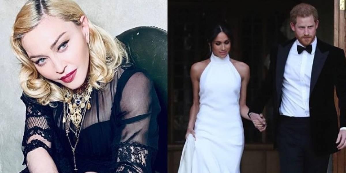 Em vídeo, Madonna envia mensagem para Meghan Markle e Harry