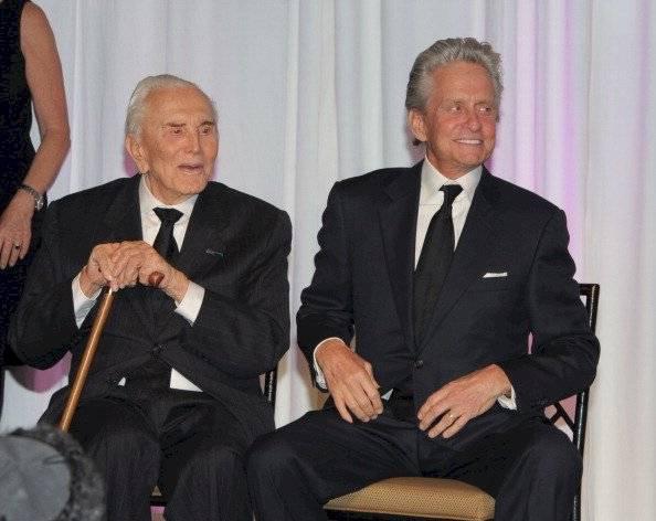 Michael Douglas y Kirk Douglas