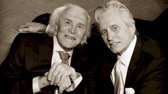 Kirk y Michael Douglas.