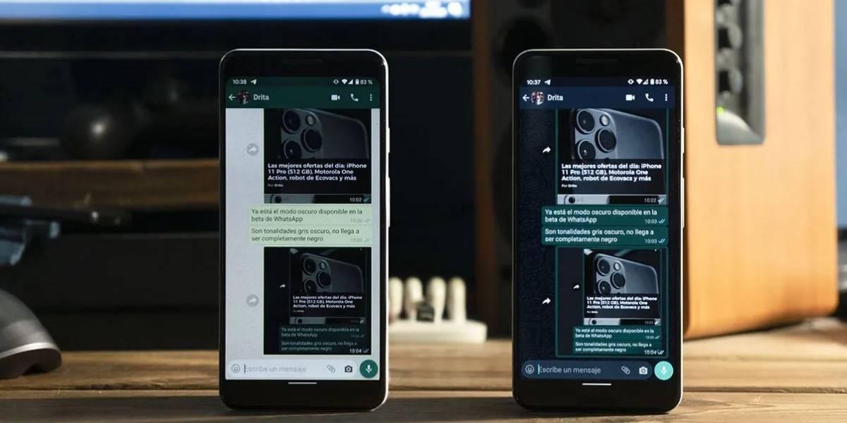 El modo oscuro de WhatsApp llegaría al iPhone en 10 días