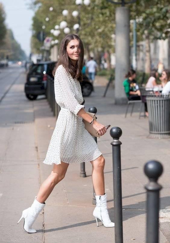 Cómo usar botines con vestido
