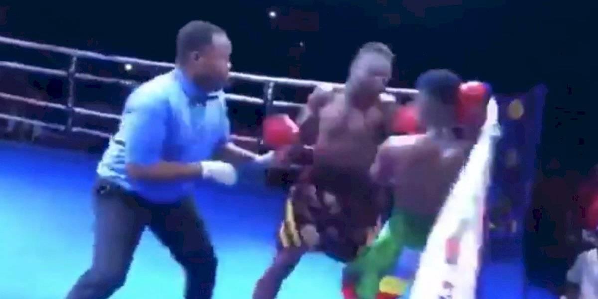 Salvaje nocaut se presentó en el boxeo africano