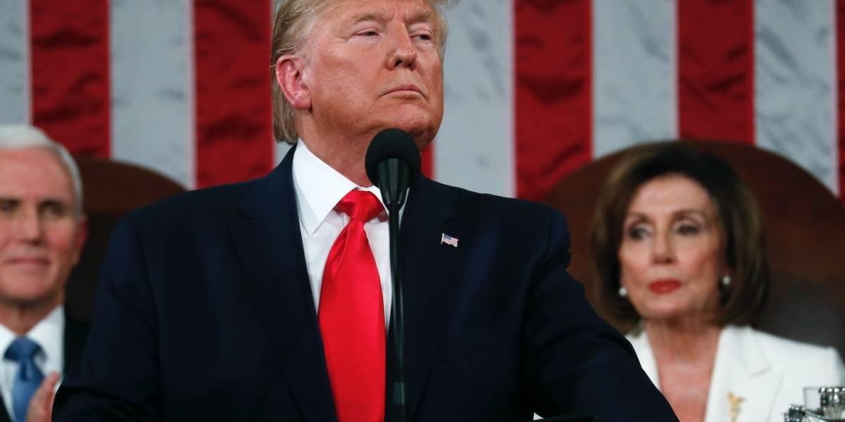 Trump rechaza saludo de Nancy Pelosi durante mensaje