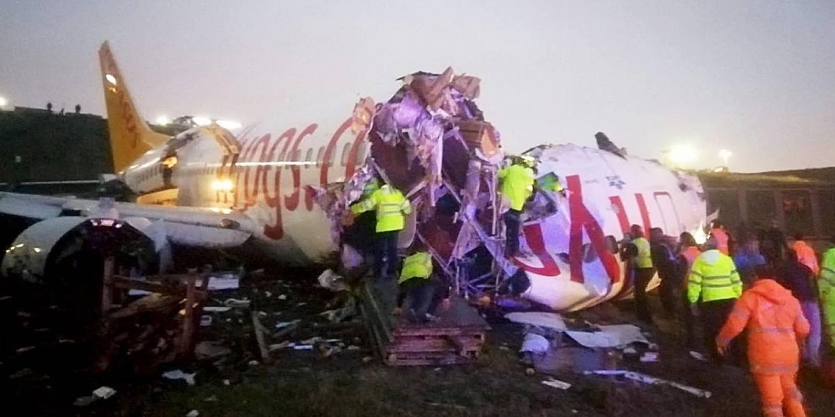 Turquía: Ocurre terrible accidente aéreo sin que nadie pierda la vida