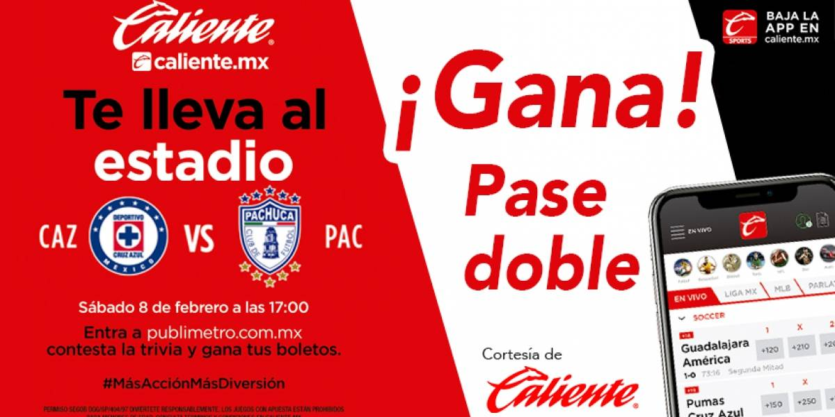 Gana pase doble para el partido Cruz Azul vs Pachuca