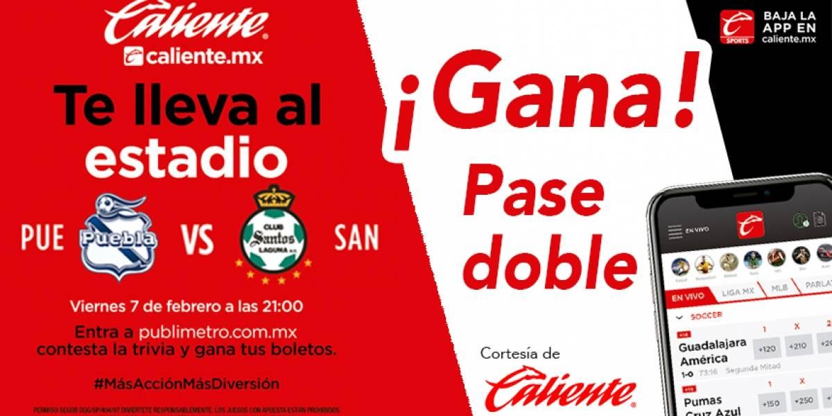 Gana pase doble para el partido Puebla vs Santos