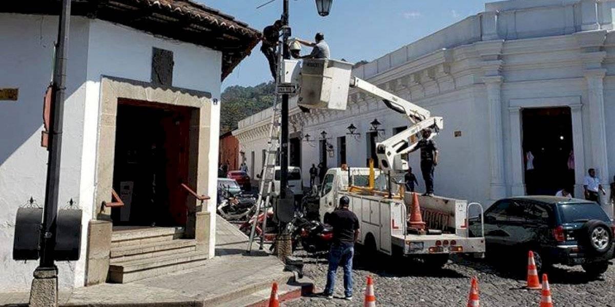 ¡Antigua segura! Instalan cámaras de videovigilancia en la ciudad colonial