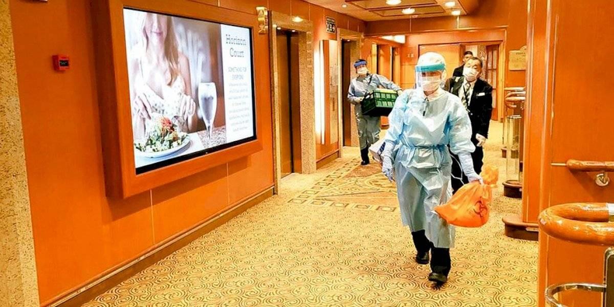 Confirman más casos de coronavirus en crucero en cuarentena