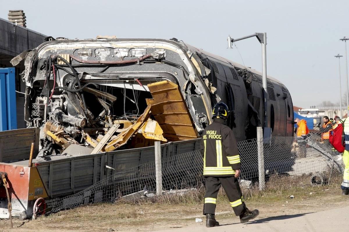 Escenas del accidente de tren en Italia