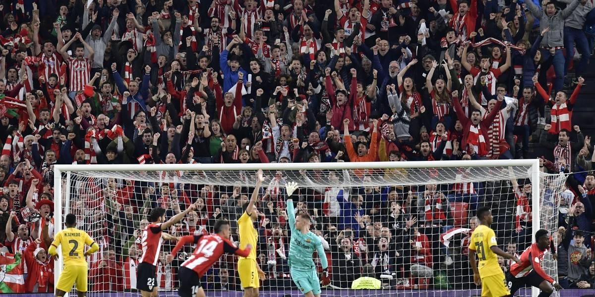 La Copa del Rey no será para el King: El Barcelona quedó fuera con Vidal en la banca y gol a los 93 minutos