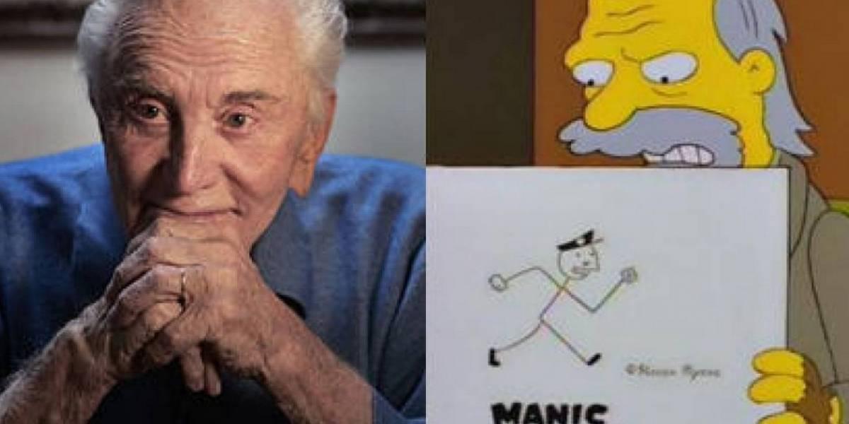 """Tuiteros recordaron el día en que Kirk Douglas apareció en """"Los Simpson"""""""