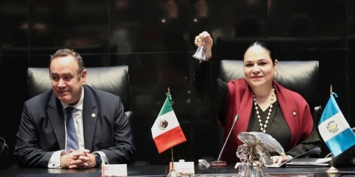 """Alejandro Giammattei propone a senado mexicano que frene la migración con """"muro de prosperidad"""""""
