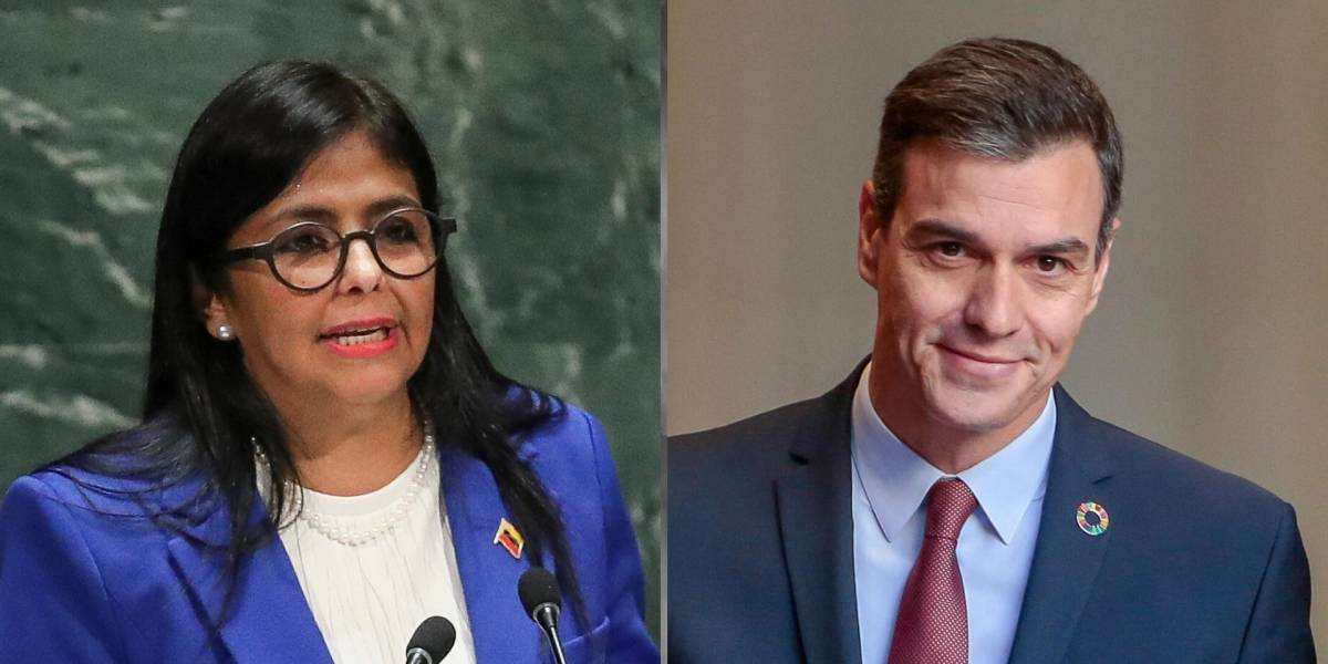 Pedro Sánchez desmiente supuesta conversación con venezolana Delcy Rodríguez
