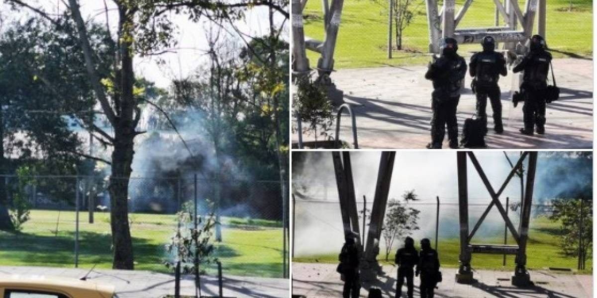 Fuertes enfrentamientos entre manifestantes y Esmad en la Universidad Nacional