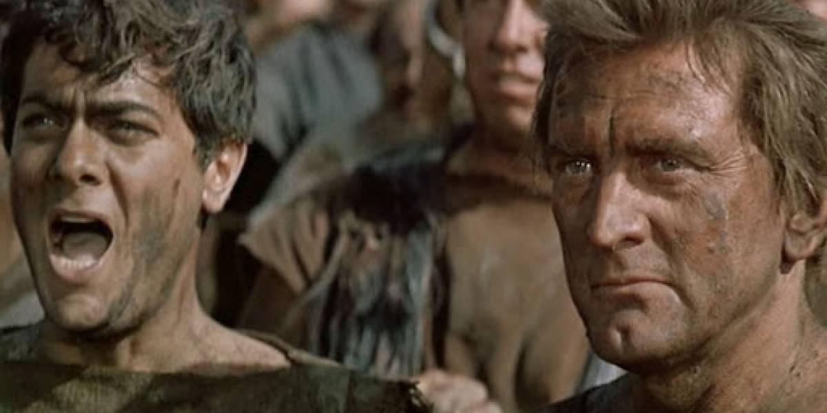 Kirk Douglas, Espartaco y su escena más recordada… en la que no dice ni una línea