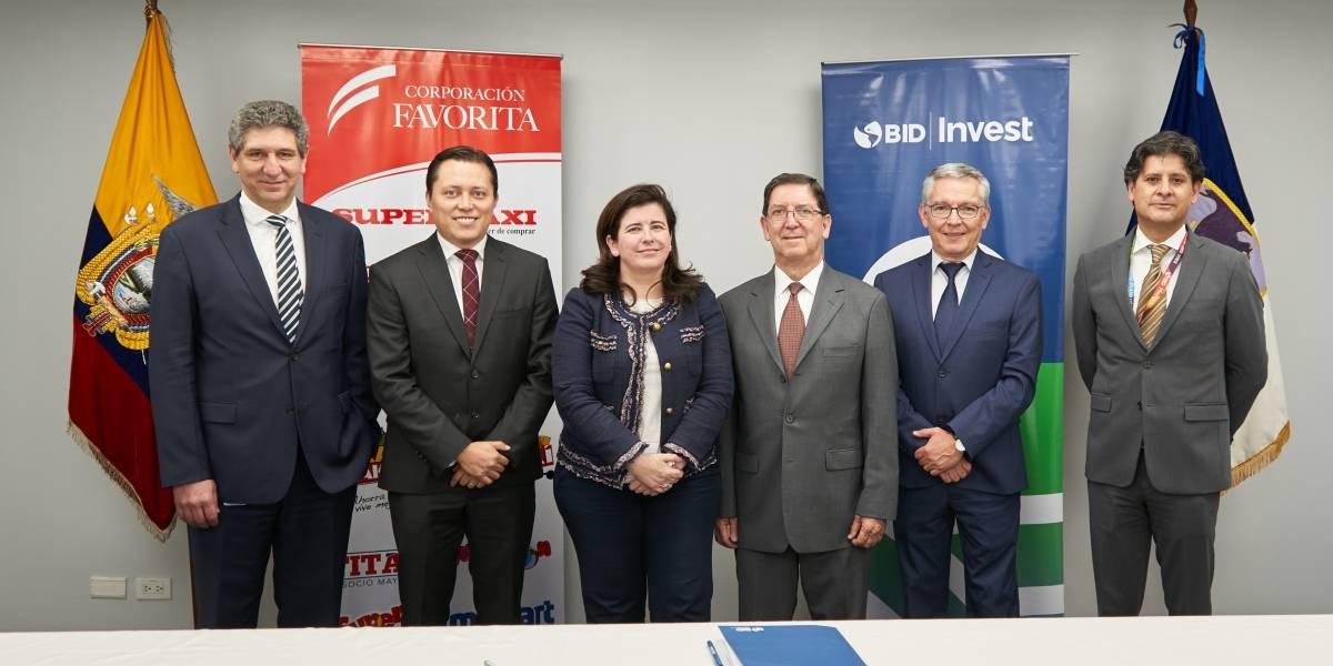 Corporación Favorita firma acuerdo con BID Invest