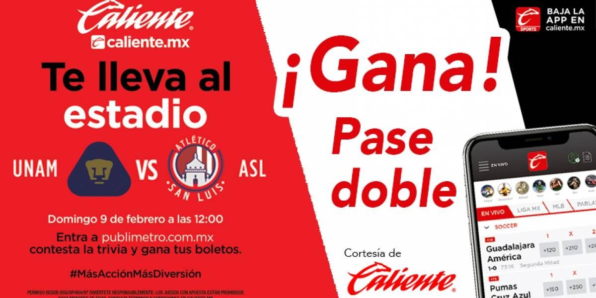 Gana pase doble para el partido Pumas vs Atlético de San Luis