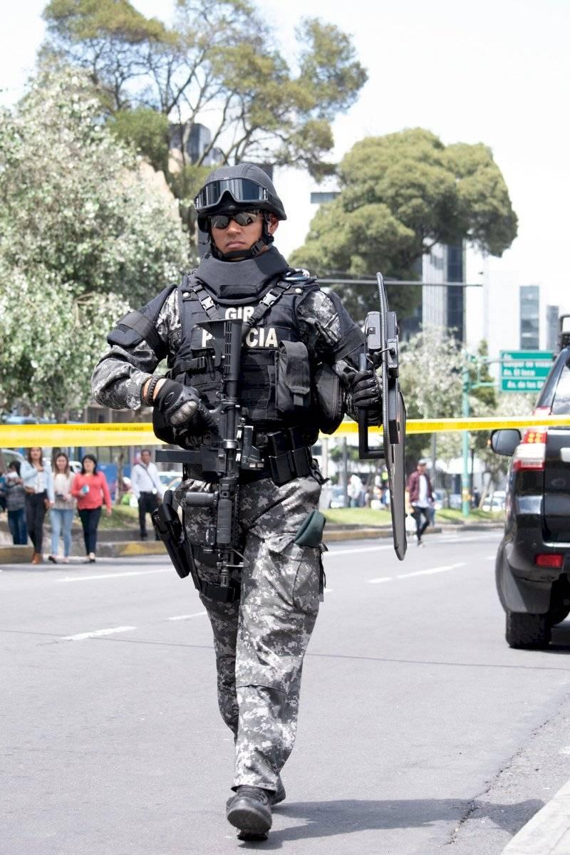 Se contó con la presencia del GIR que custodiaba el lugar y al sospechoso que estuvo en el lugar de los hechos Oscar Ayo