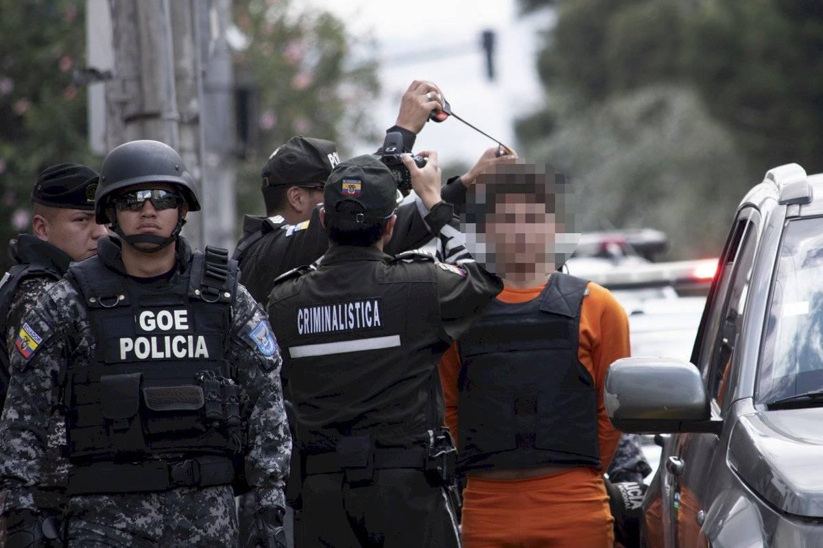El sospechoso del asesinato de Mariana Granja estuvo presente pero no participó de la reconstrucción de los hechos debido a que se acogió al derecho al silencio Oscar Ayo