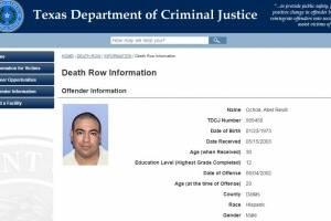 Ejecutaron a Abel Revill, el mexicano que masacró a su familia en Dallas en 2002
