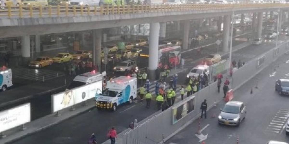 Hombre se lanzó desde puente vehicular del aeropuerto El Dorado