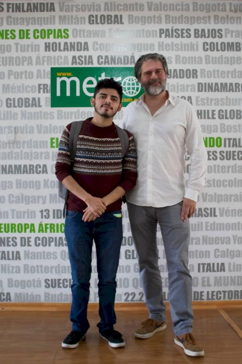 Diego Ulloa y Sebastián Cordero visitaron Diario Metro Ecuador