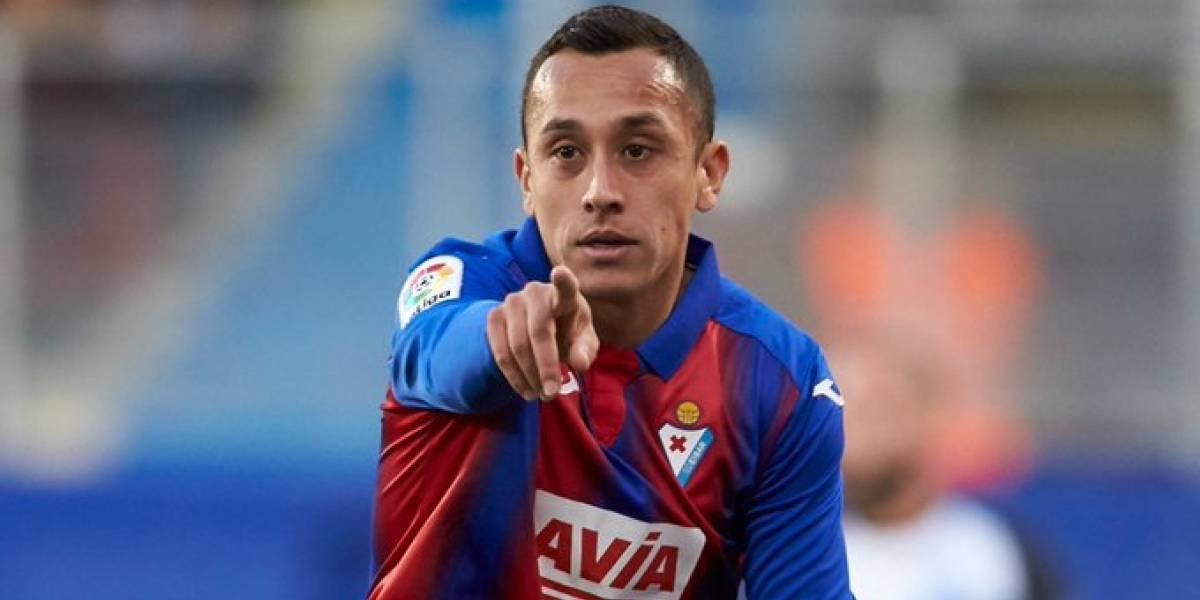 ¡Qué importante es Orellana para el Eibar! La Liga española destacó al chileno como el líder total en la ofensiva de su equipo