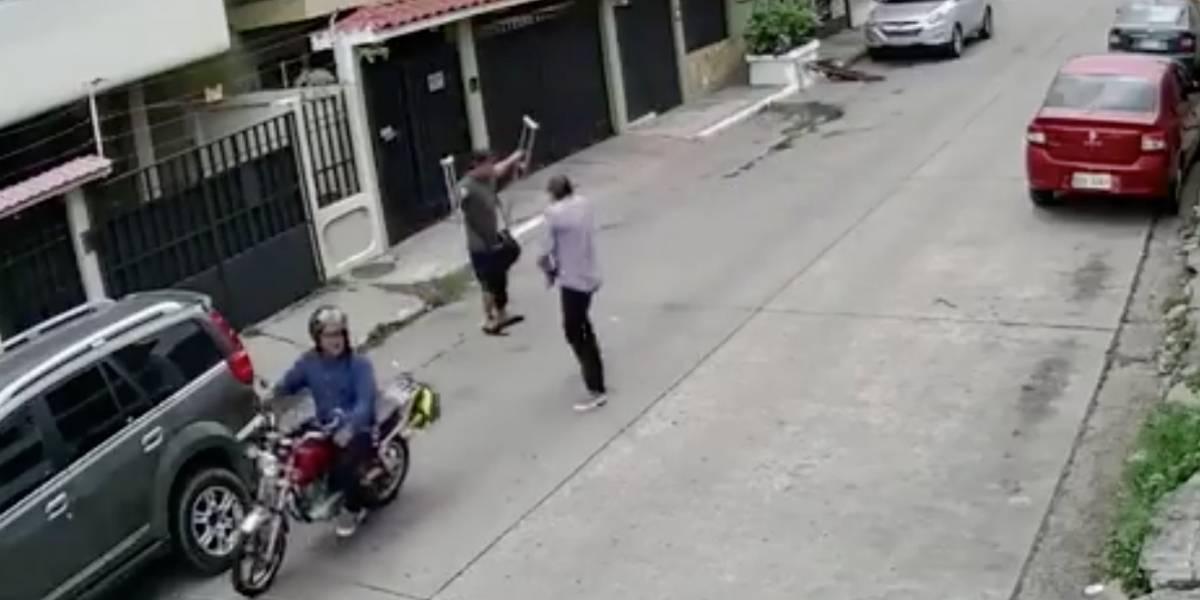 Nueva modalidad de robo en moto se ejecuta en Guayaquil