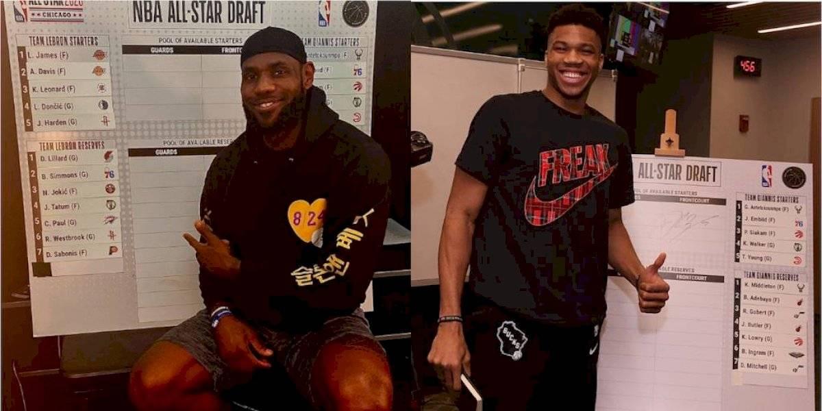 LeBron y Giannis eligen a sus equipos para el Juego de Estrellas