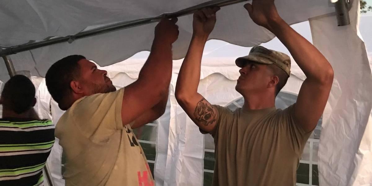 Guardia Nacional instala carpas en municipios del sur para que se den clases