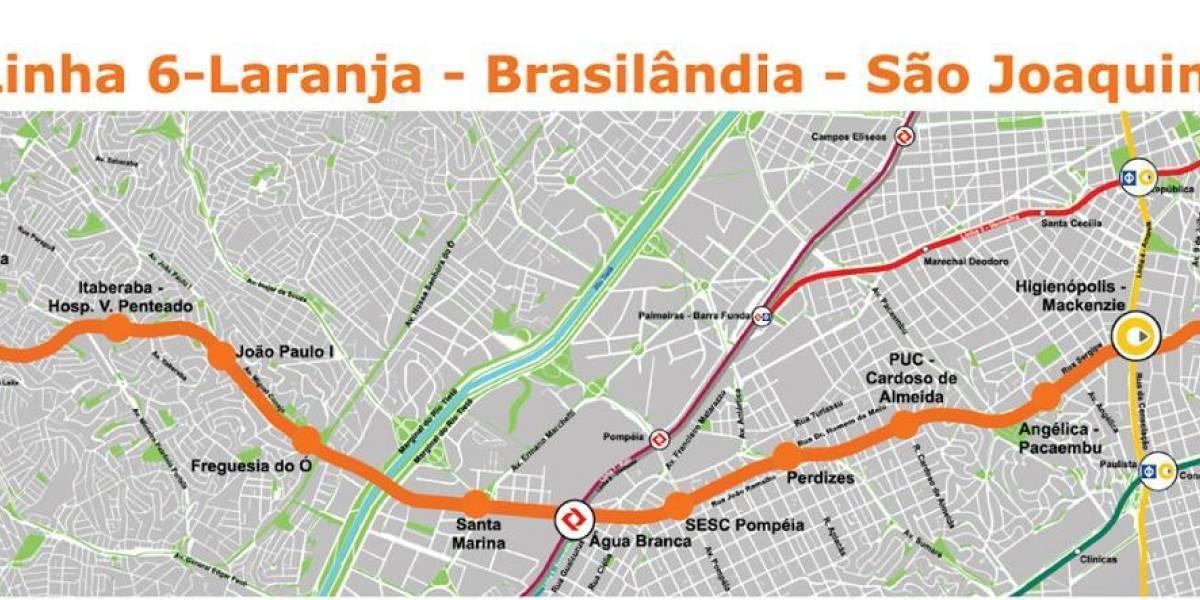 Linha 6-Laranja do Metrô terá obras retomadas em até 90 dias, diz Doria