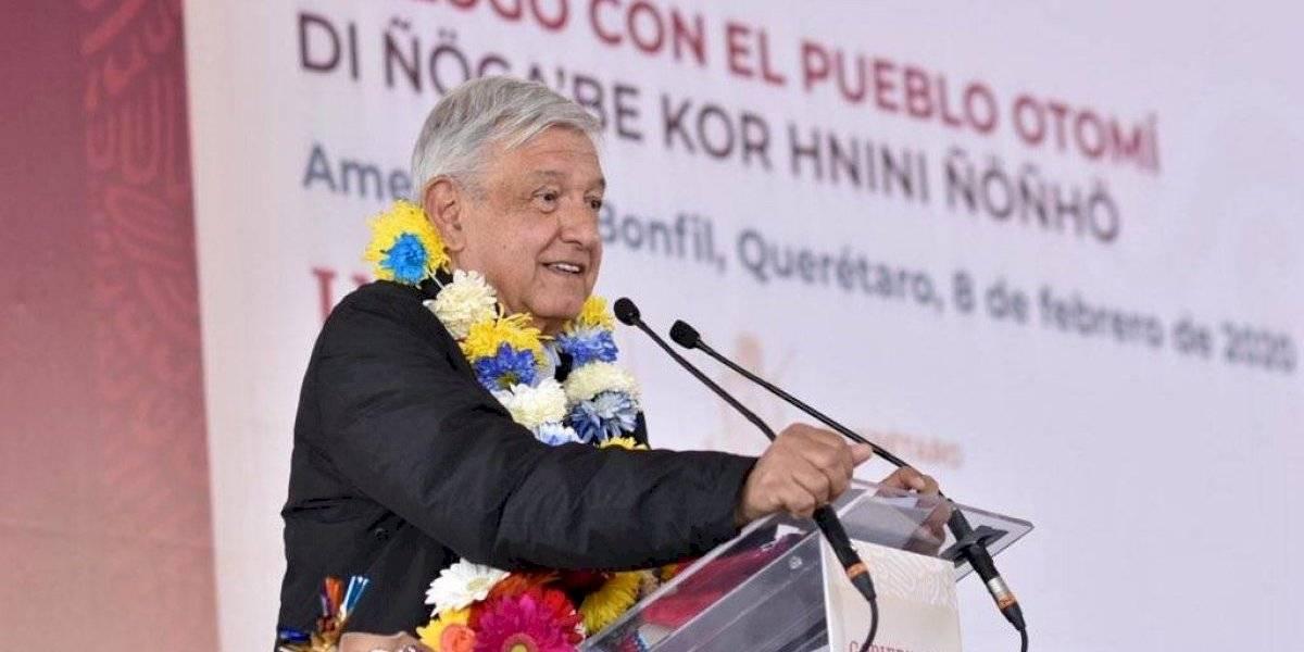 Pueblo otomí de Querétaro piden educación, salud y seguridad a AMLO