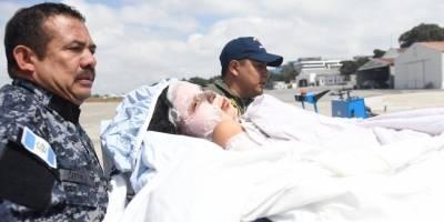 Atleta Gladys Téllez es trasladada hacia el Hospital Nacional de Escuintla.