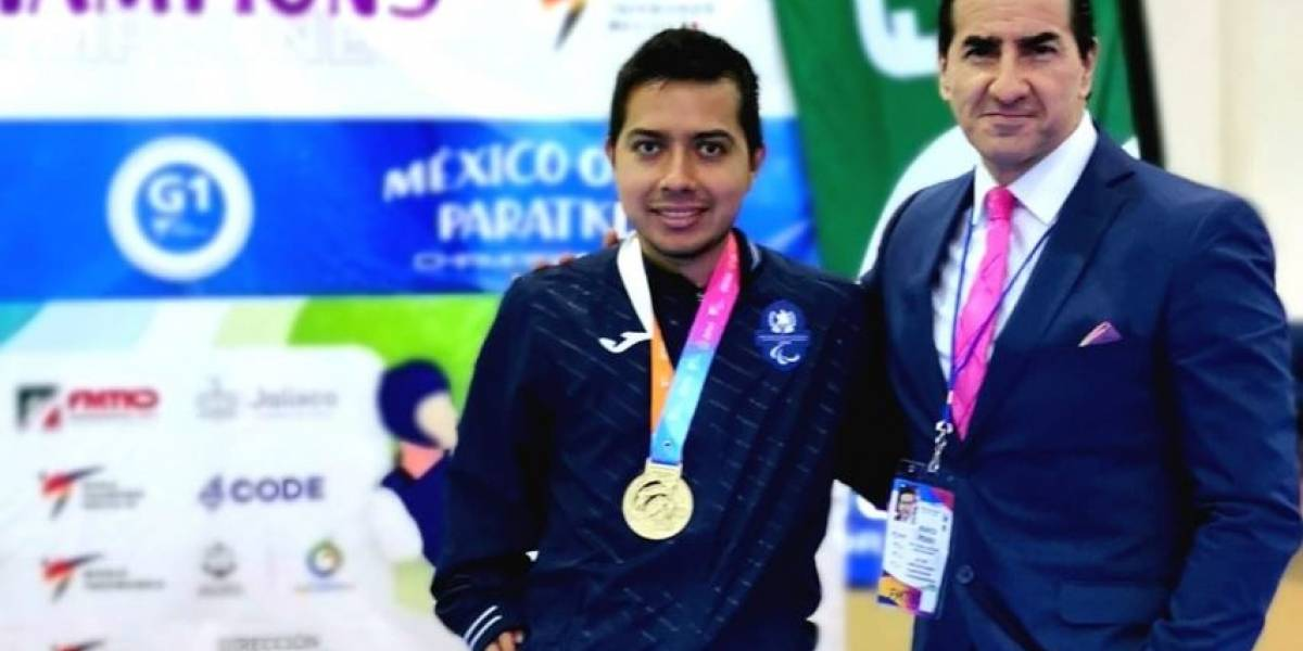 Parataekwondoista guatemalteco Gersson Mejía gana medalla de oro México