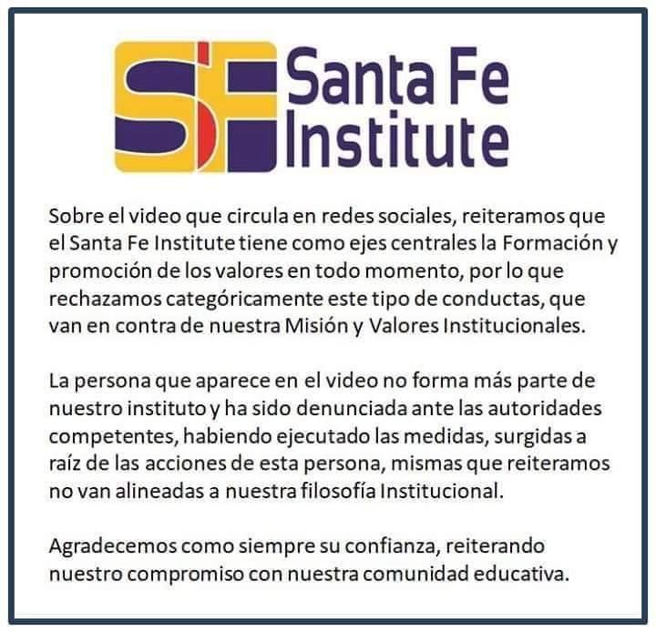 Comunicado del Santa Fe Institute