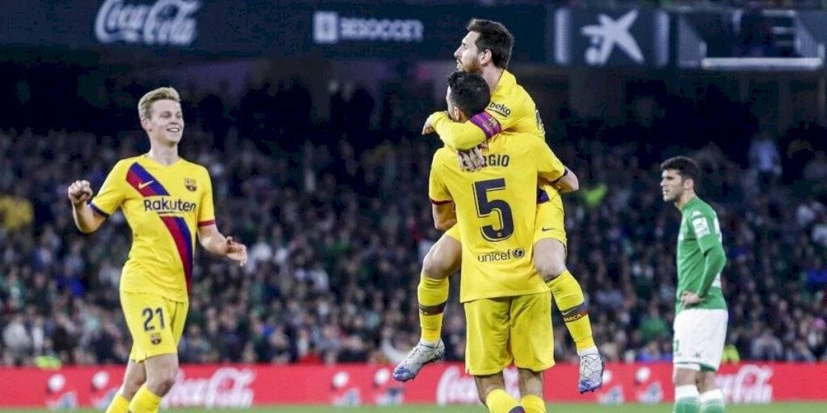 Barcelona obtiene sufrido triunfo ante el Real Betis