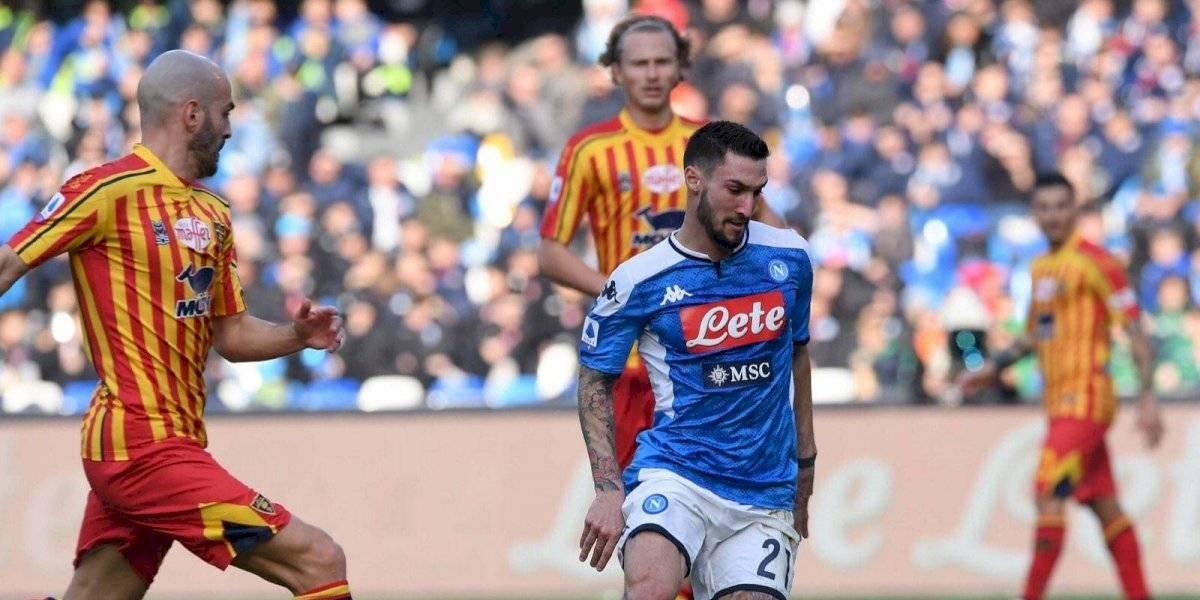 Con Chucky, Napoli cae en casa contra el Lecce