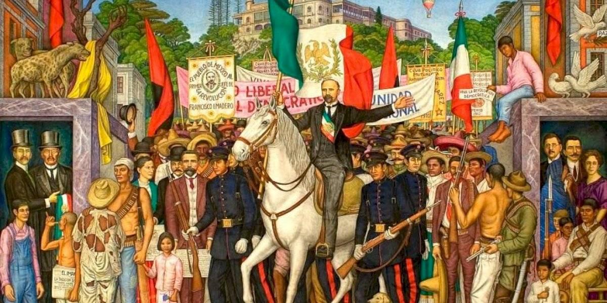 Retablo de la Revolución, mural que representa la Marcha de la Lealtad