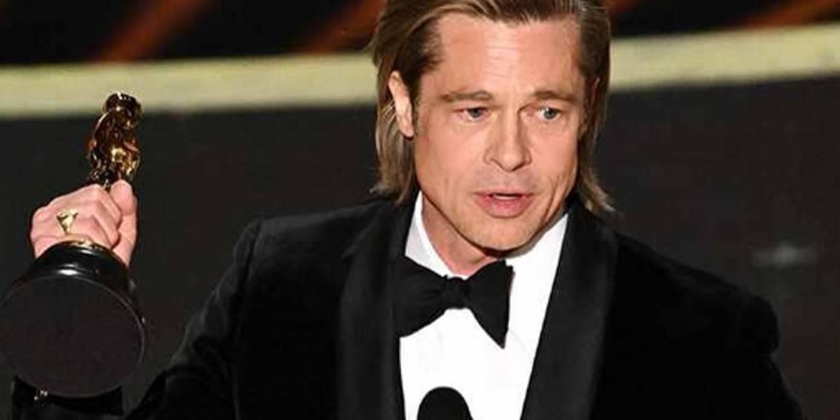 Brad Pitt gana su primer Oscars y se lo dedica a sus hijos