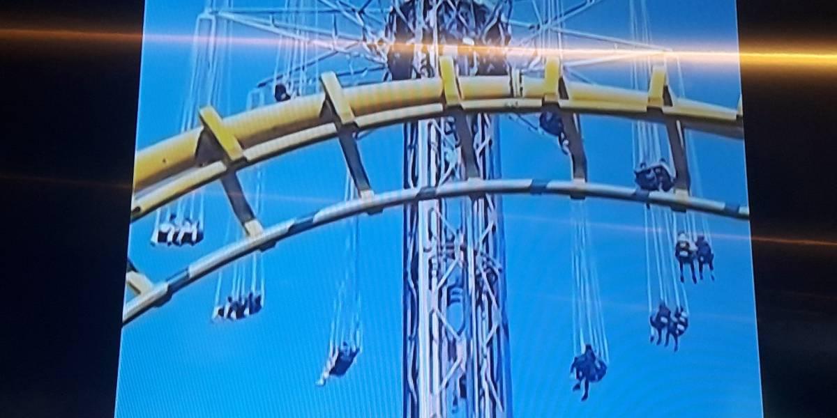 Terror en las alturas: quedaron colgados en juego de Fantasilandia a 80 metros