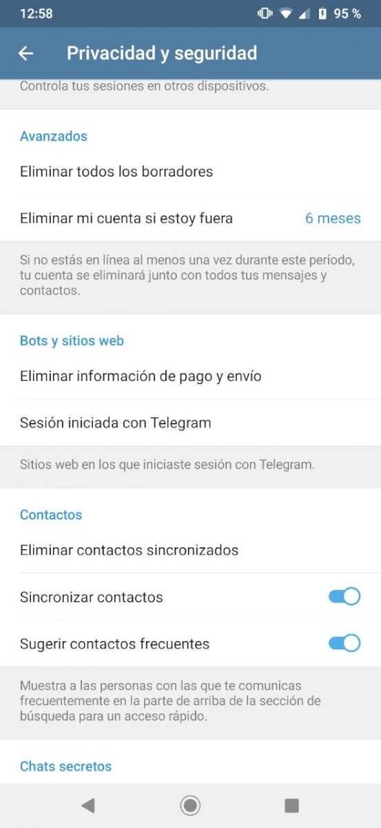 Telegram trucos